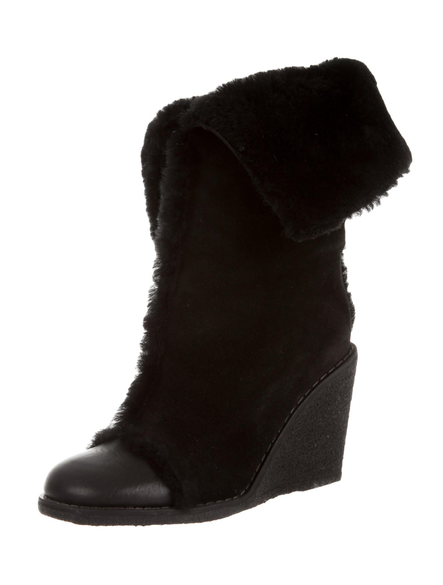 see by chlo 233 shearling ankle boots shoes wse24266