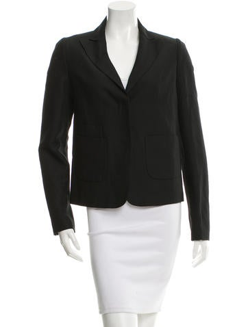 See by Chloé Wool-Blend Peak-Lapel Blazer