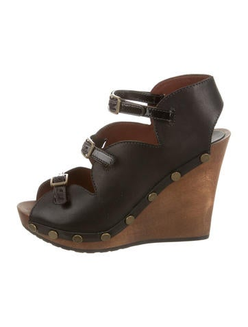 See by Chloé Buckle-Accented Multistrap Wedges None