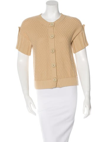 See by Chloé Textured Short Sleeve Cardigan None