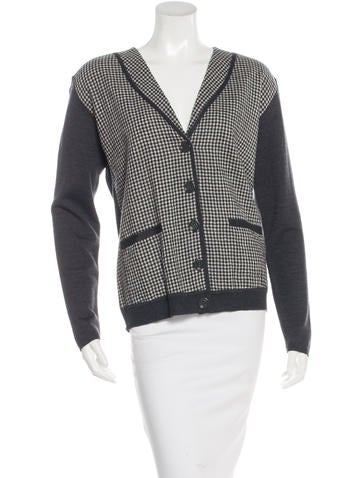 See by Chloé Checked Wool Cardigan None