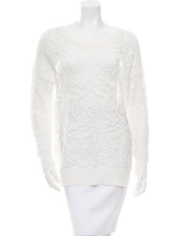 See by Chloé Open Knit Crew Neck Top None