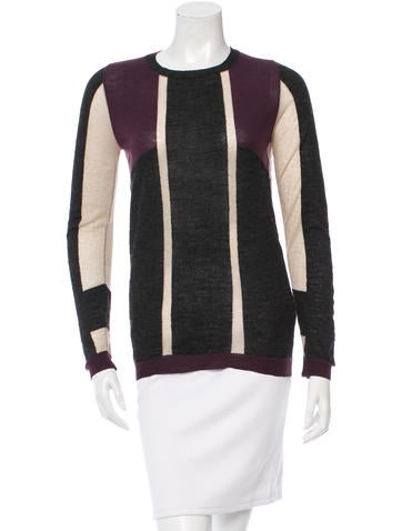See by Chloé Wool Colorblock Top None