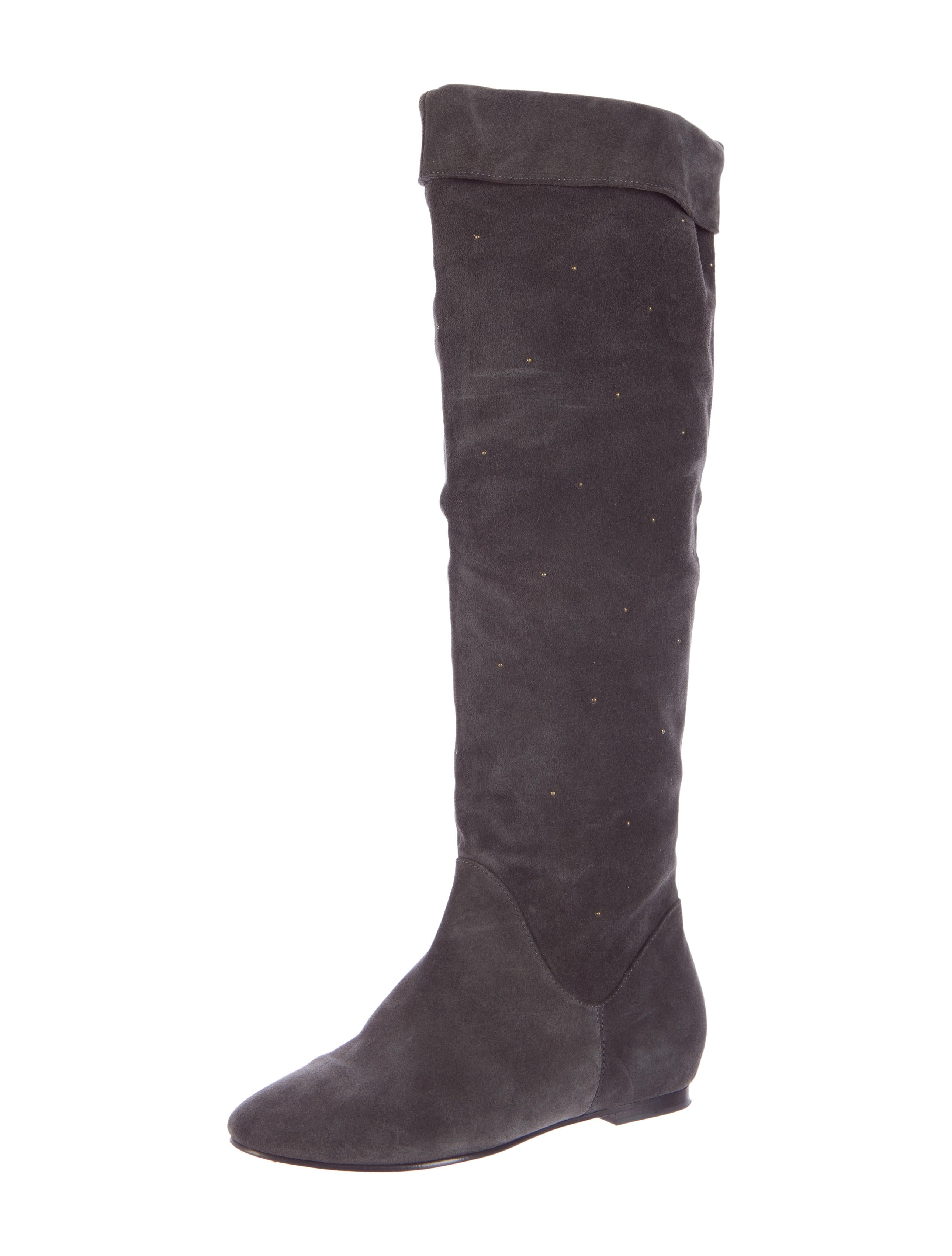 see by chlo 233 studded suede boots shoes wse26768 the