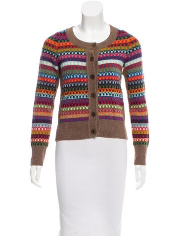 See by Chloé Patterned Rib Knit Cardigan None