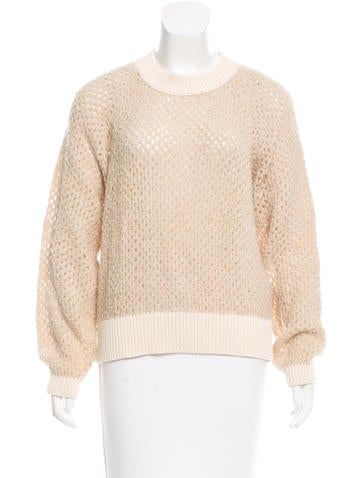 See by Chloé Perforated Rib Knit Sweater None