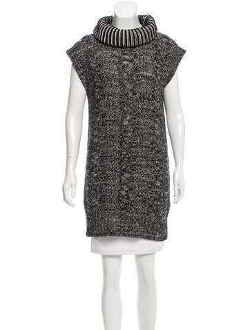 See by Chloé Wool-Blend Sleeveless Tunic None