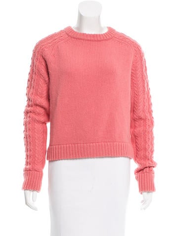 See by Chloé Cable Knit Wool Sweater None