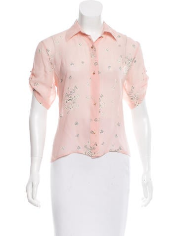 See by Chloé Silk Button-Up Top None
