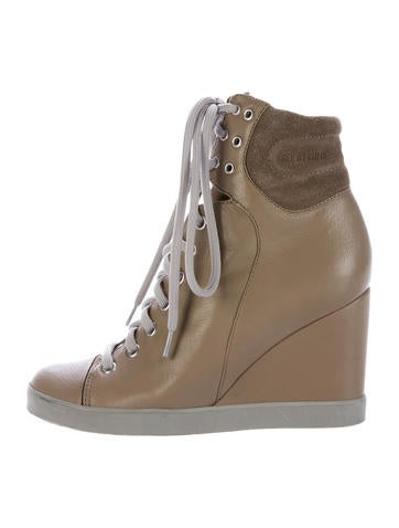 See by Chloé Leather Wedge Sneakers None