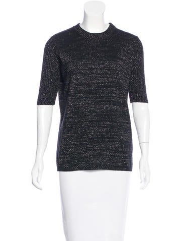 See by Chloé Metallic Knit Top None