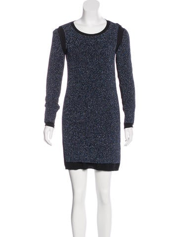 See by Chloé Wool Metallic Dress None