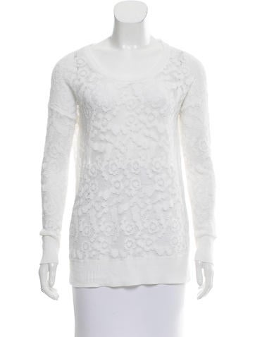 See by Chloé Open Knit Crew Neck Sweater None