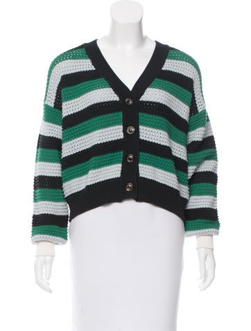 See by Chloé Striped Rib Knit Cardigan None