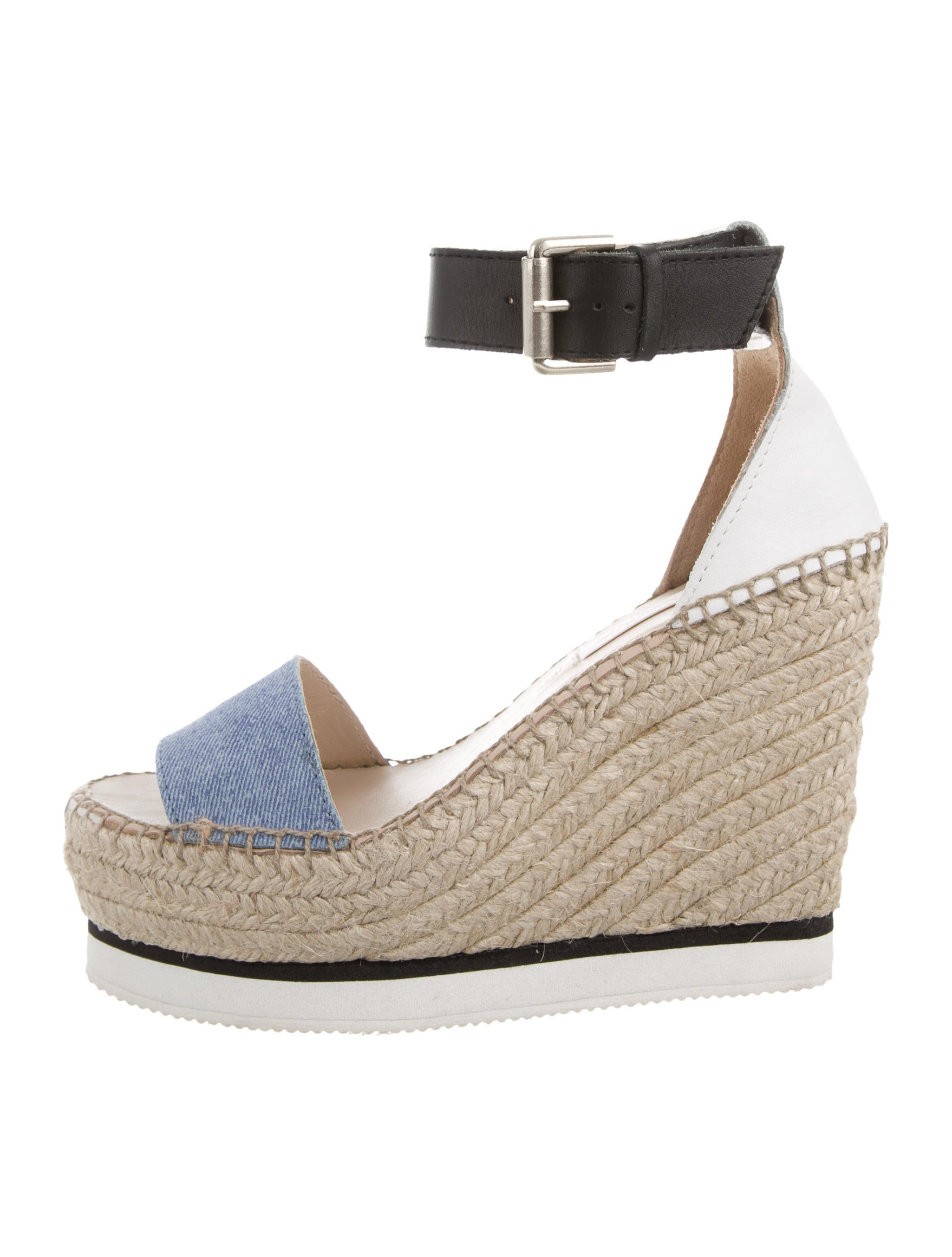 See by Chloé Denim Espadrille Sandals w/ Tags