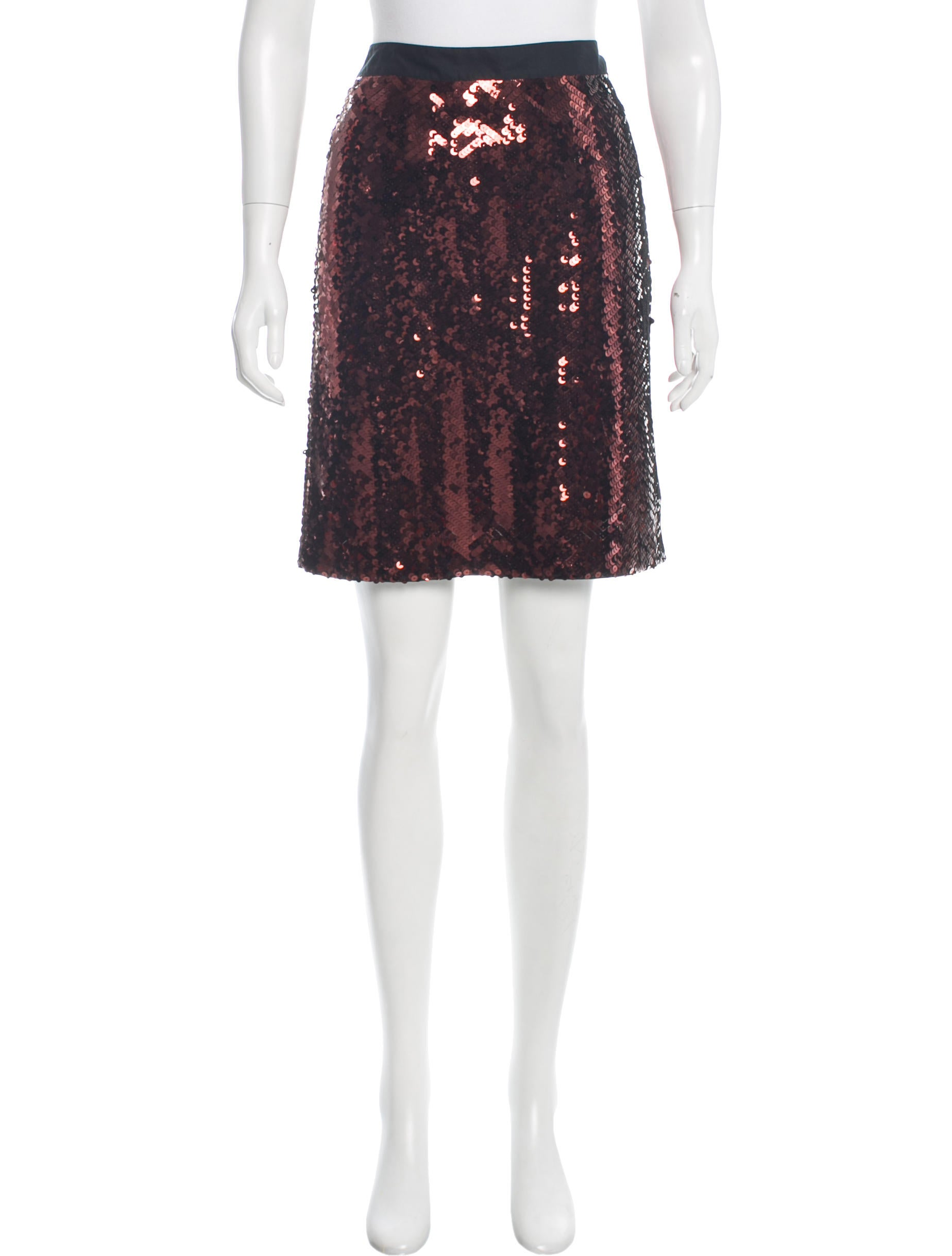 see by chlo 233 sequined knee length skirt clothing