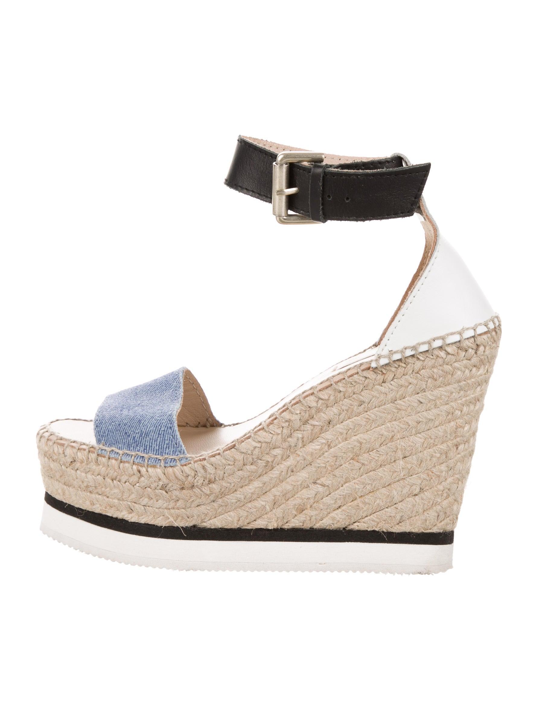 See by Chloé Denim Espadrille Sandals - Shoes