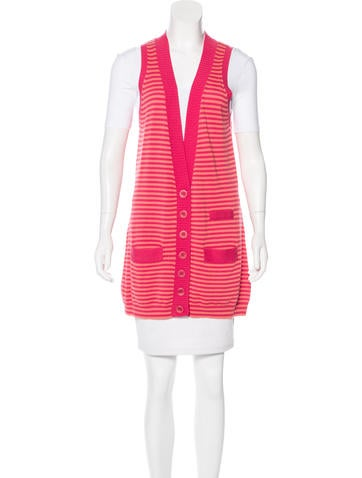 See by Chloé Sleeveless Striped Cardigan None