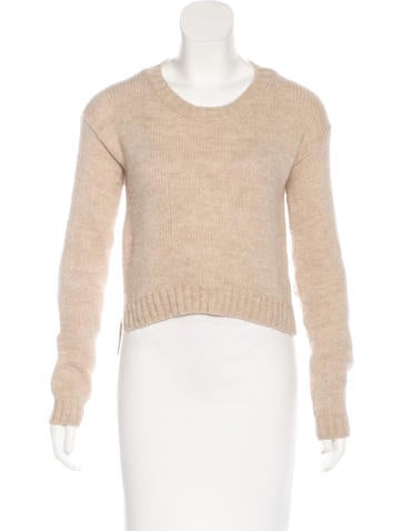 See by Chloé Alpaca-Blend Cropped Sweater None