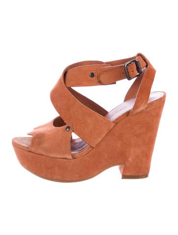 See by Chloé Suede Platform Wedges None