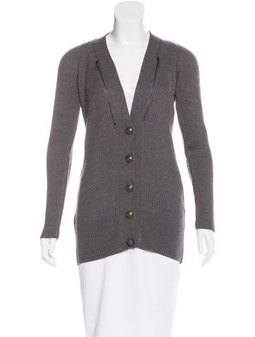 See by Chloé Rib Knit Zip-Accented Cardigan None