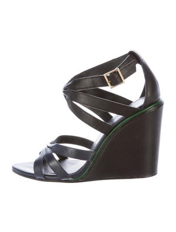 See by Chloé Leather Multistrap Wedges None