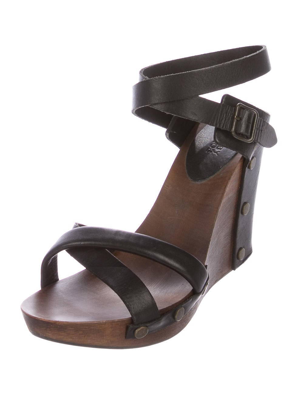 see by chlo 233 leather slide wedge sandals shoes
