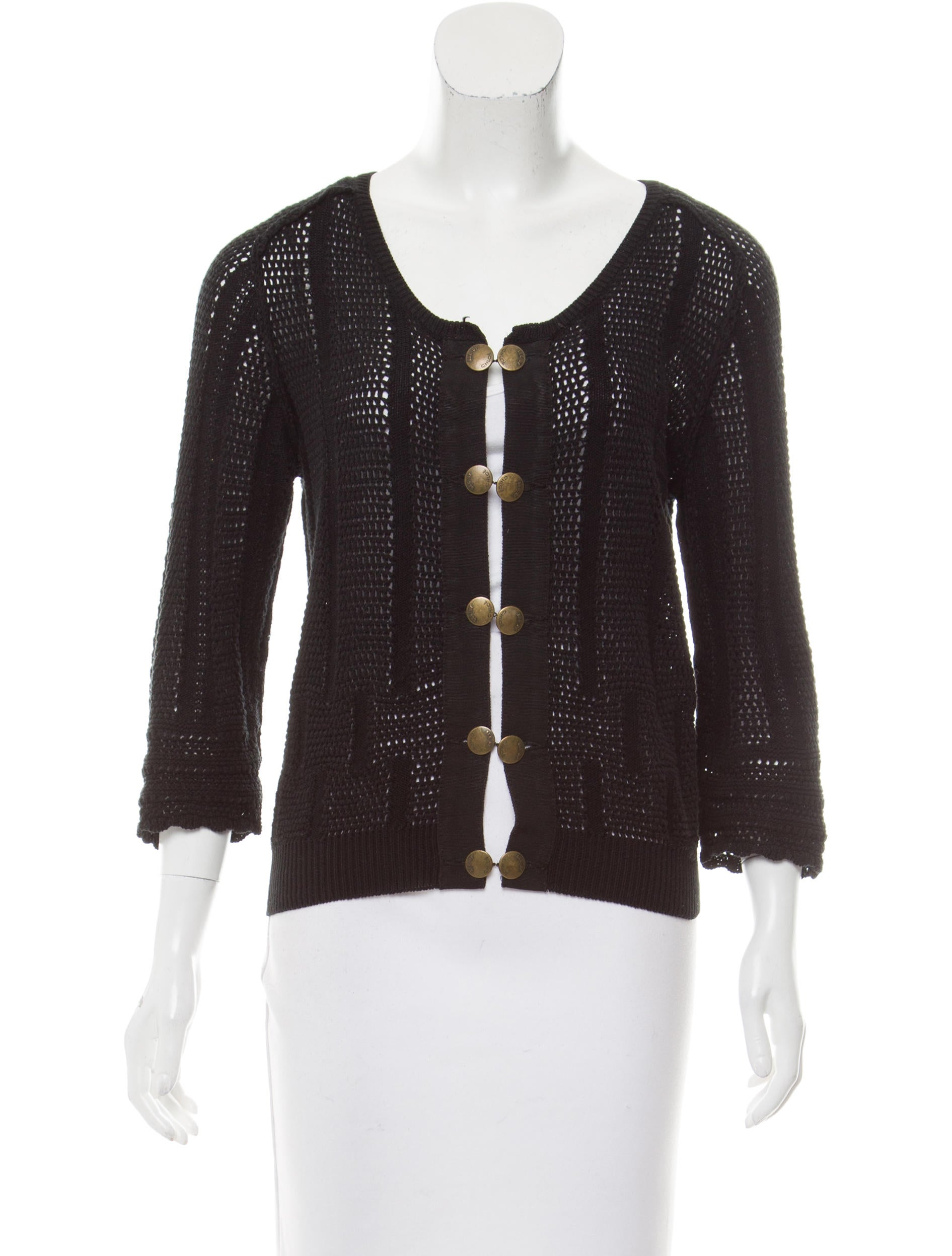 See By Chlo 233 Open Knit Button Up Cardigan Clothing