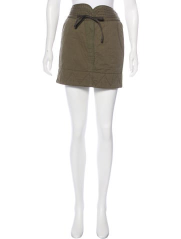 See by Chloé Rib Knit-Trimmed Mini Skirt w/ Tags None