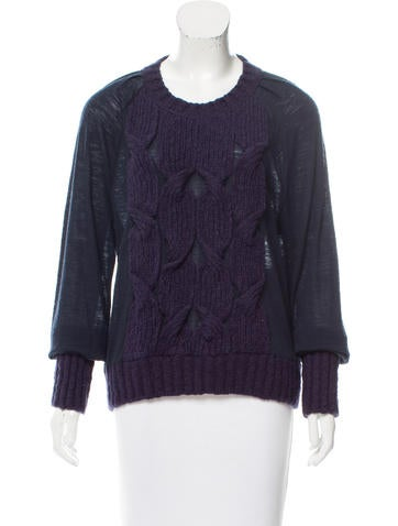 See by Chloé Long Sleeve Cable Knit Sweater None