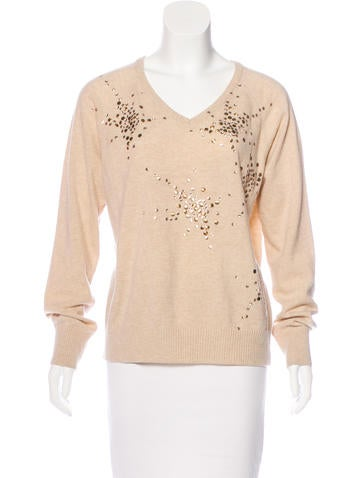 See by Chloé Wool Embellished Sweater None