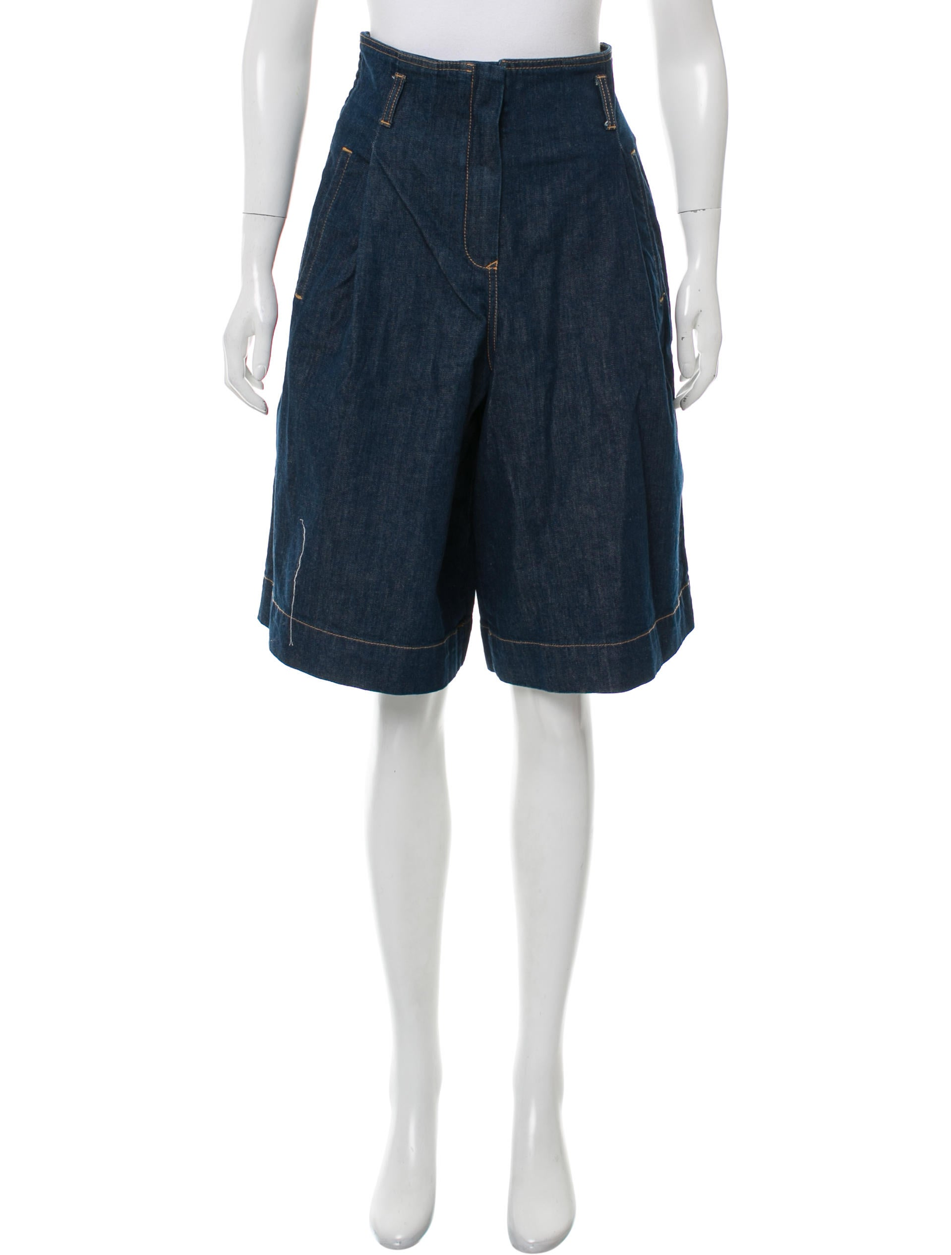 See by Chlou00e9 Denim Knee-Length Shorts - Bottoms - WSE30381 ...