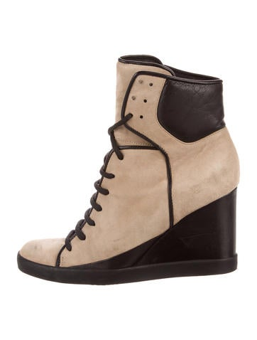 See by Chloé Suede Wedge Booties None