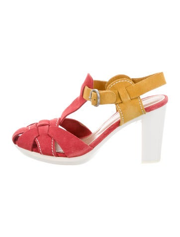 See by Chloé Multistrap Colorblock Sandals None