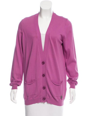 See by Chloé Long Sleeve V-Neck Cardigan None