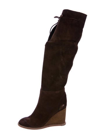 See by Chloé Suede Over-The-Knee Boots None