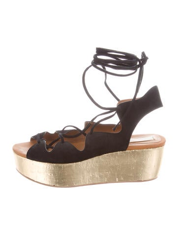 See by Chloé Suede Wedge Sandals None