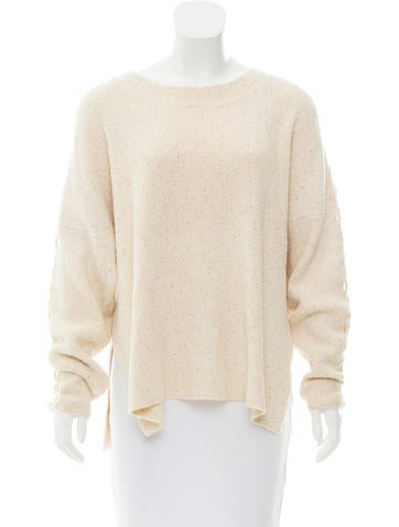 See by Chloé Rib-Knit Bateau Neck Sweater None