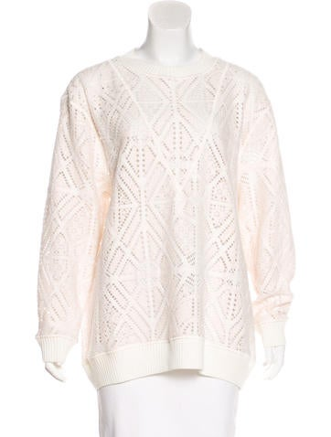 See by Chloé Crochet Crew Neck Sweater None