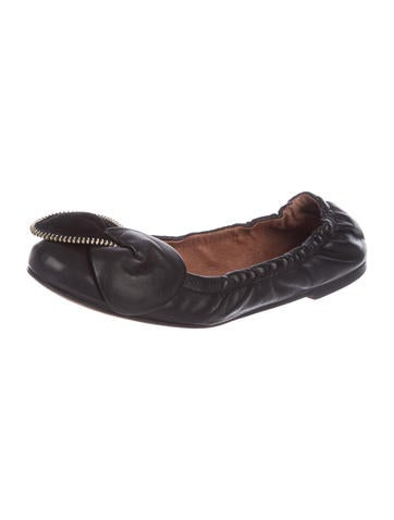 See by Chloé Leather Round-Toe Flats outlet fashionable vgG1EGsyqS