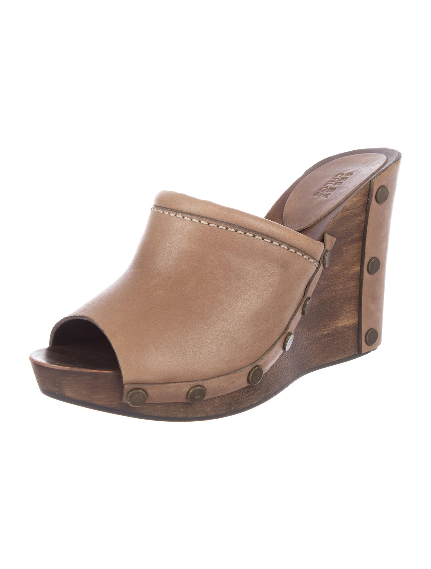 See by Chloé Leather Side Wedges free shipping with mastercard P6XGthQG