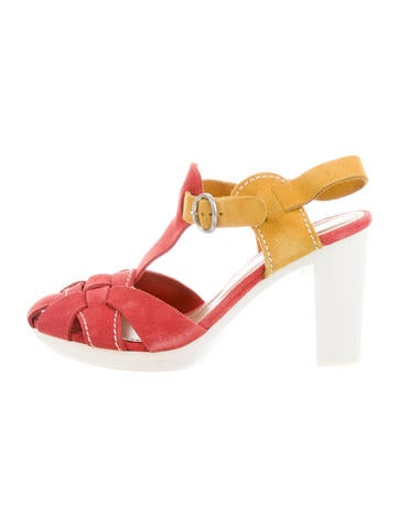 See by Chloé Multistrap Colorblock Sandals sale sale online clearance best prices wholesale price cheap online pEqIiWNYs