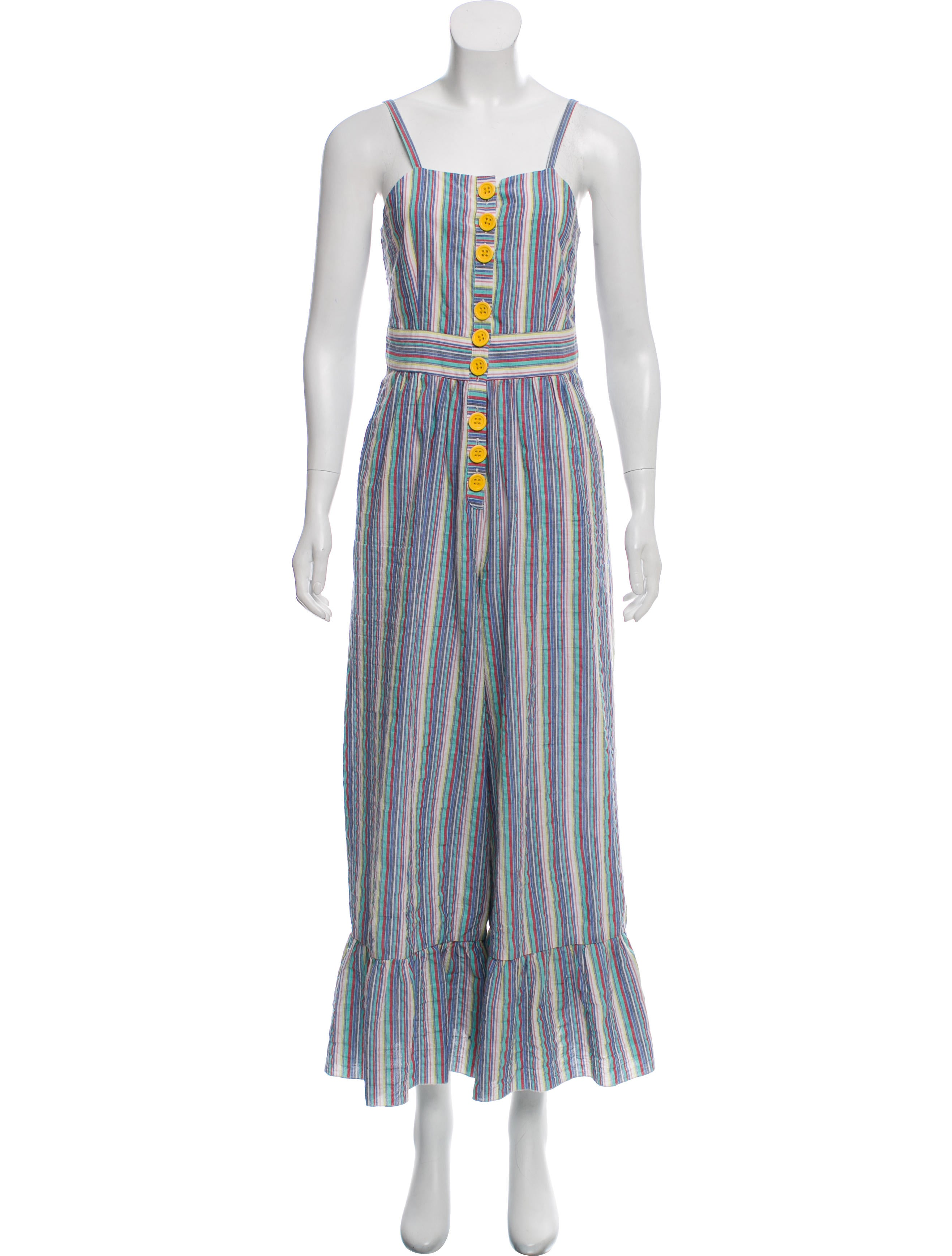 Stripe Wide Leg Jumpsuit by See By Chloé