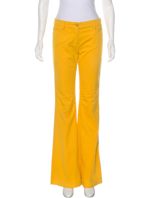 See by Chloé Mid-Rise Flared Pants Yellow