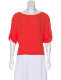Short Sleeve Scoop Neck Top image 1