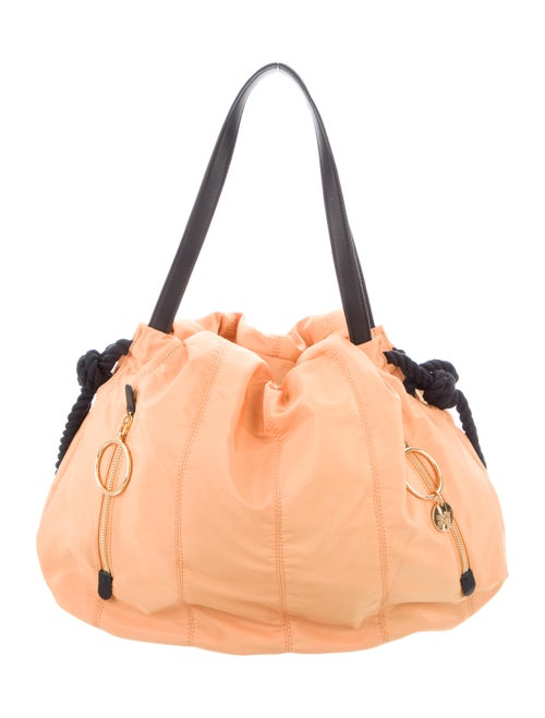 See by Chloé Nylon Knot Shoulder Bag Yellow