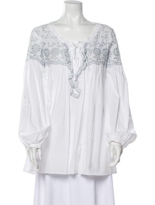 See by Chloé Lace Pattern Square Neckline Blouse W