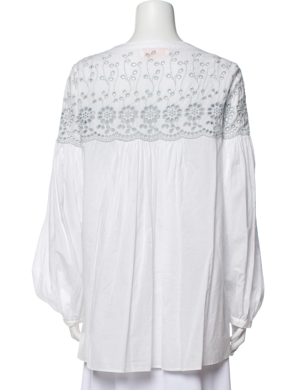 See by Chloé Lace Pattern Square Neckline Blouse … - image 3