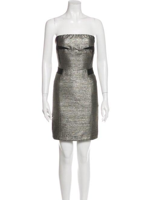 See by Chloé Strapless Mini Dress Metallic