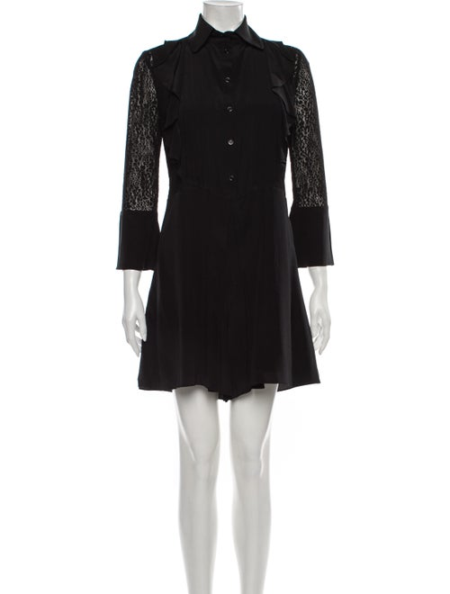 See by Chloé Silk Romper Black